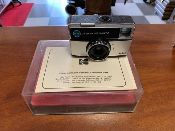 Câmera Fotográfica Kodak Instamatic 155x Antiga