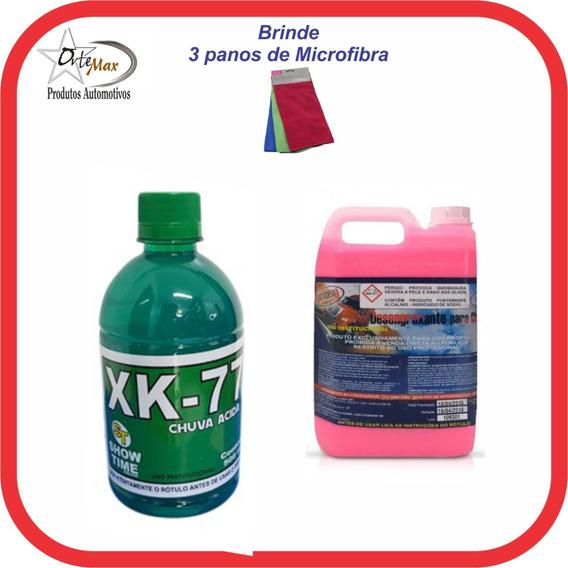 Xk-77 Removedor Chuva Ácida 500ml + 05lts Solupan Rosa