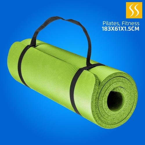 Colchoneta De Yoga Ejercicios Gimnasio Fitness Espesor 1.5cm