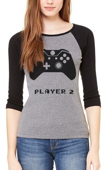 Playera Player 1 Y 2 Mejores Amigas Friends Raglan Xbox #368