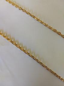 Corrente Masculina Banhada A Ouro 18k 70cm/04mm/22g