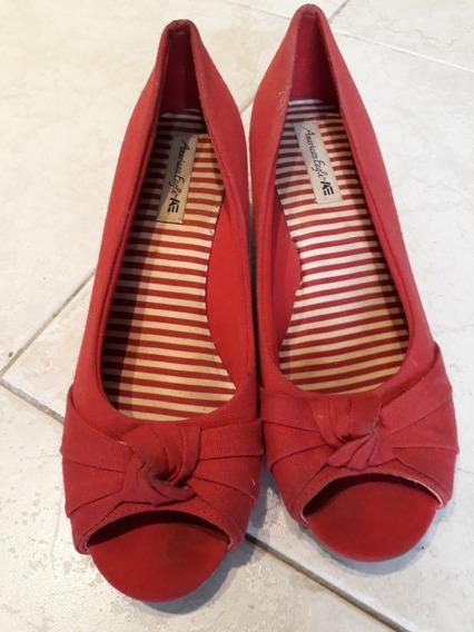 Sandalias Zapatos De Lona American Eagle Rojas