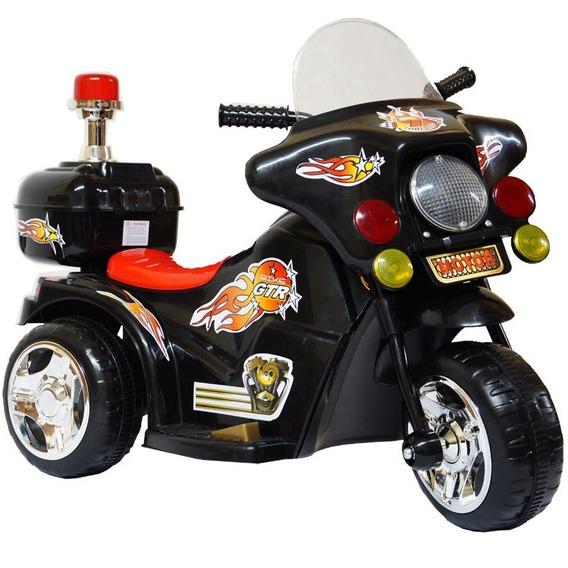 Mini Moto Elétrica Infantil Triciclo Preto 6,0v Inmetro