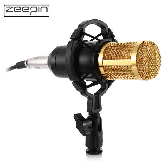 Zeepin Bm -800 Microfone Condensador Gravação Som Auditivo C