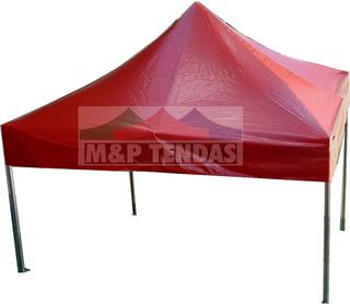 Tenda Sanfonada 3x3 Em Pvc Td Lona 100% Impermeavel