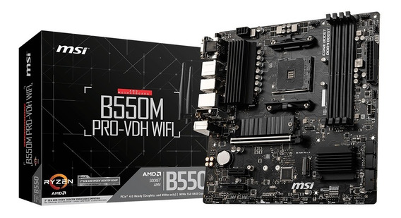 Motherboard Msi B550m Pro-vdh Wifi Am4 M.2 Ddr4 Amd Ryzen