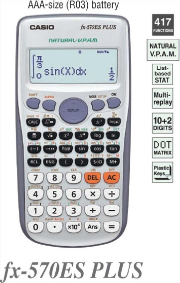 Calculadora Cientifica Fx-570 Es Plus Casio Original 2019