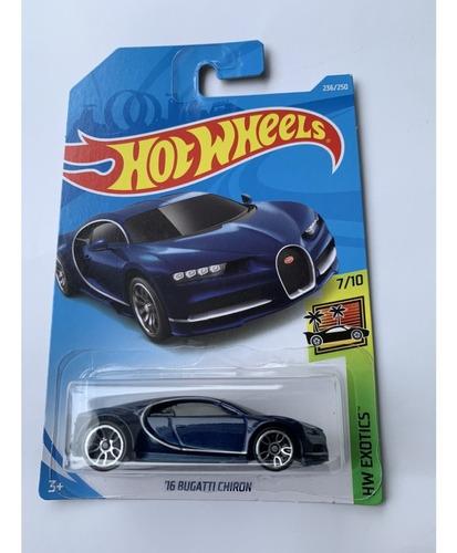 Hot Wheels 16 Bugatti Chiron Azul 2019 Versión Americana