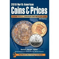 Imagen 1 de 1 de Catalogo North American Coins And Prices 2019 Canada Usa Mex