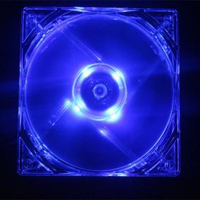 Cooler Ventilador 4pin Dc 12v 80mm Led Luz Azul Computador