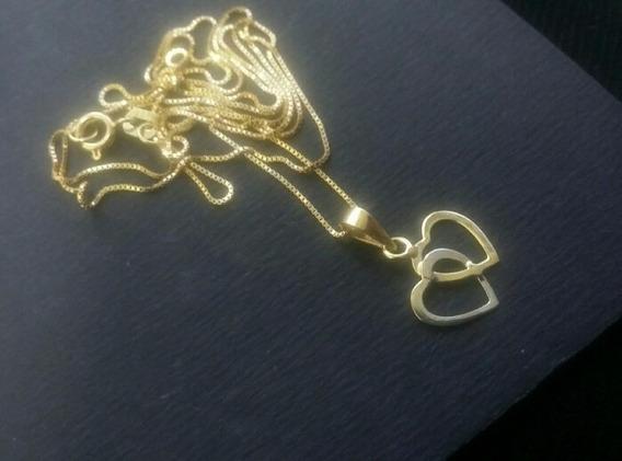 Colar Corrente Ouro Coração