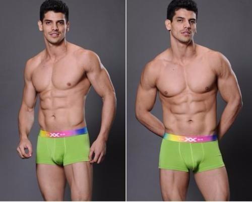 Boxer Sexy Elastico Grueso Hombre Verde Talla G