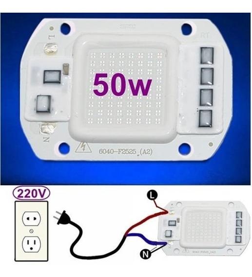 Kit 3 Chip Led 50w Azul 220v Inteligente Nao Usa Reator Driv