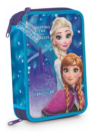 Cartuchera 3 Pisos Disney Princesas Frozen Elsa Mundo Manias
