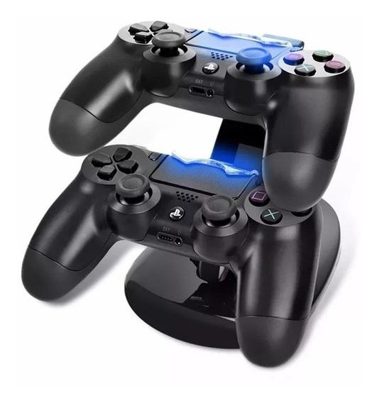 Base Dock Carregador Duplo P/ Controles Sony Ps4 Playstation