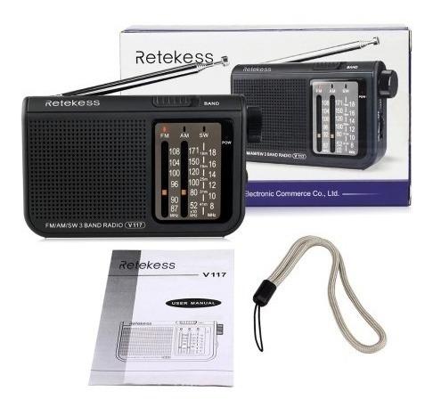 Radio Portatil Importado V117 Banda Am/fm/sw