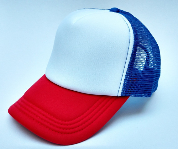 Gorra Trucker Lisa Roja Azul Blanca Regulable Colores
