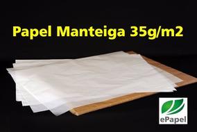 400 Folha Papel Manteiga 50x70 Fino 35g Forno Cristal Brilho