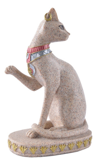 Arenito Ancient Egyptian Mau Estátua De Gato Escultura Mão