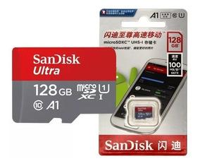 Cartão Micro Sdxc 128gb Classe 10 100mb/s + Adaptador