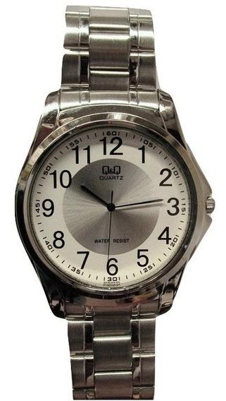 Relógio Q & Q Masculino Pulseira De Aço Grande Q206j204y