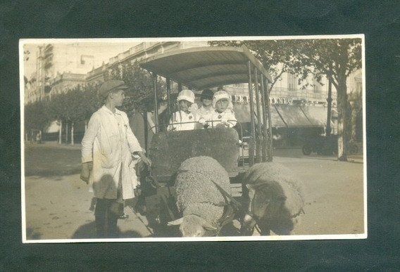 Uruguay Tranvia Del Zoo . Antigua Foto . Plaza Libertad . .