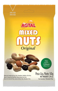 Mixed Nuts 50g Cx. 20