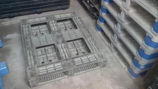 Palete Pallet Pallets Plástico Runner 90x110x15 Dupla Face Não Reversilvel