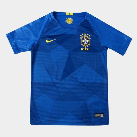 Camisa Seleção Brasil 2018 - Oficial Nike - Ll - Azul