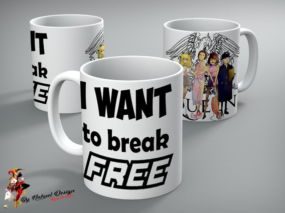 Taza De Ceramica Queen - I Want To Break Free Premium