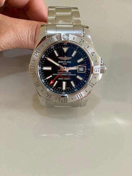 Breitling Avenger Ii Gmt Chronometer Stainless Steel Black