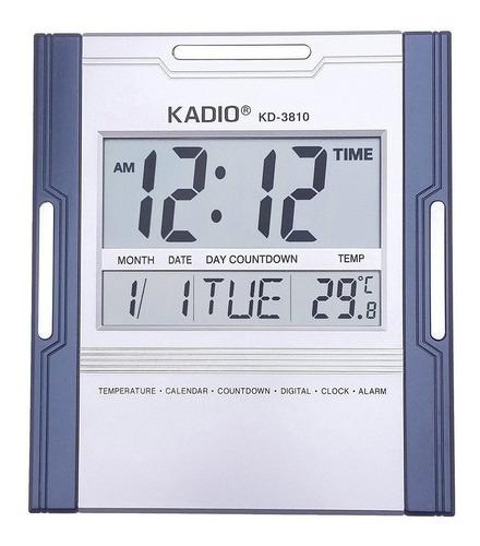Reloj Pared Digital Con Fecha Alarma Calendario Termómetro