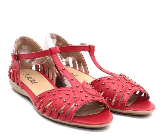 Sandalias Zapatos Mujer Dama En Cuero Cómodas Franciscanas