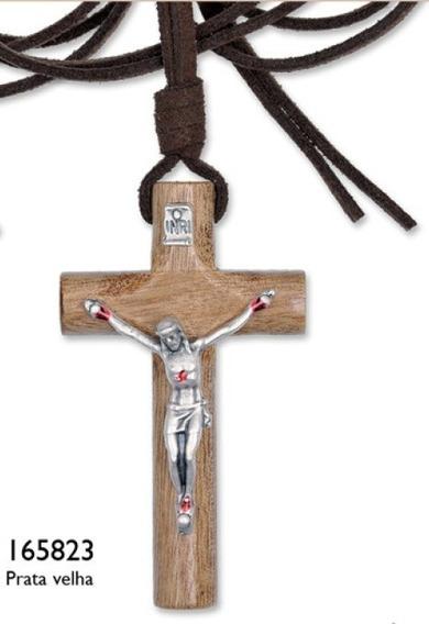 Colar Crucifixo C/ Chagas De Cristo Em Imbuia Lançamento