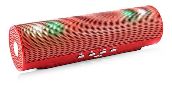 Caixa De Som Hsx-50 Usb Bluetooth Portátil Sem Fio Red 40w