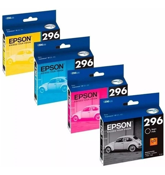 Kit 4 Cartuchos Originais Epson 296 Xp231 241 431 441