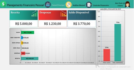 Controle Financeiro Em Excel