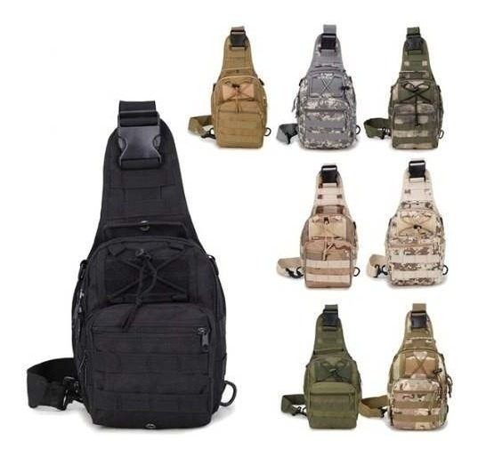 Mochila Pochete Tática Militar Camuflada Tranversal Ref: 686