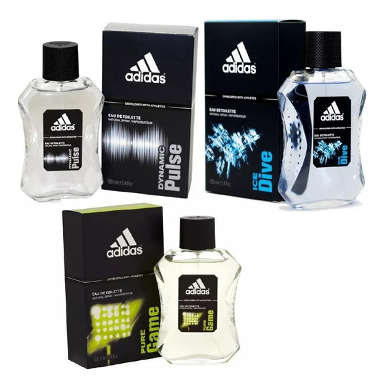 Combo 3 adidas Dynamic Pulse + Ice Dive + Pure Game 100ml