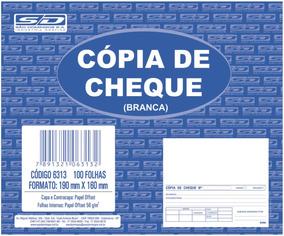 Impresso Copia De Cheque Branco 100f 160x190mm C/10