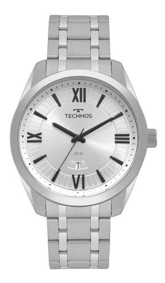 Relógio Technos Masculino Ref: 2115msq/1k Classic Prata