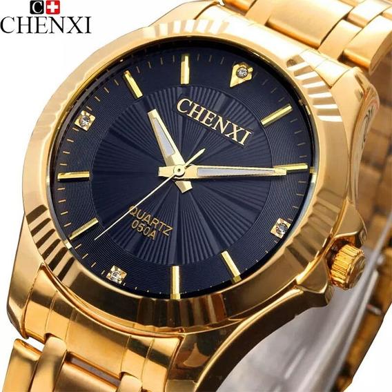 Relógio De Pulso Feminino Dourado Frete Grátis