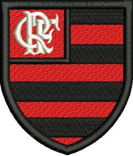 2 Patchs Bandeira + Escudo Flamengo Com Carrapicho