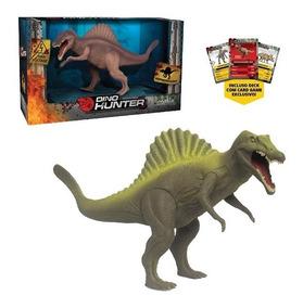 Dinossauro Espinossauro Dino Hunter Colors Com Card Na Caixa