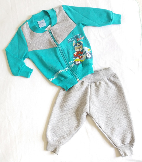 Conjunto Moletom Bebê Menino - Tamanho M/g