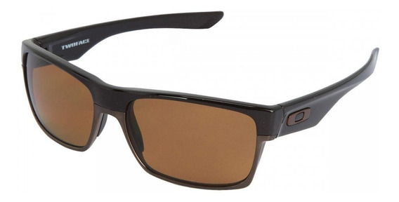 Óculos De Sol Two Face Marrom 100% Polarizado + Brinde