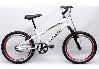 Bicicleta Aro 20 Garra Flash Suspensão Bmx Branca
