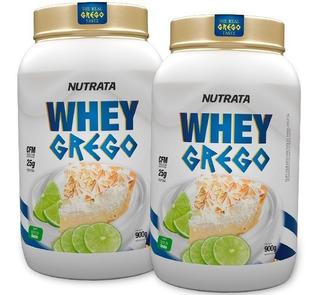 2 X Whey Grego 900g - Nutrata / Original Com Nf