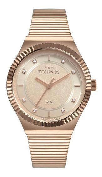Relógio Technos Feminino Rosê 2035mrv/4t