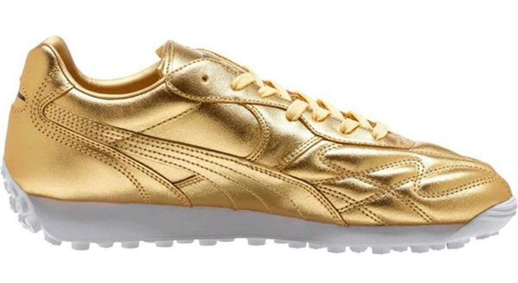 Tenis Hombre Puma King Avanti Trophy Color Dorado